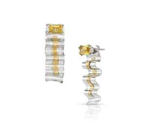 Sterling Silver & 22K Gold Earring Jackets with Citrine Posts