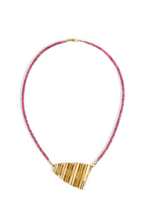 Ribbons Collection Necklace with Spinel Beads
