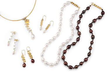 Assorted Ribbons Collection Pieces with Pearls